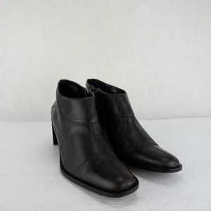 Etienne Aigner Womens Square Ankle Heel Boots 8.5M